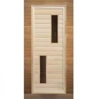 деревянная с двумя прямоугольными стеклами 190*70