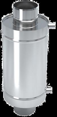 Теплообменник 12 литров на трубе д.115 (aisi439)