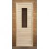 Дверь деревянная липа с прямоугольным стеклом 190х70
