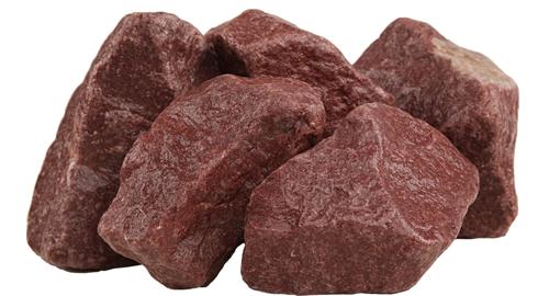 """Камни для бани """"Малиновый кварцит"""" обвалованный"""