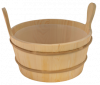 Шайка для бани 10л. с пласт. вставкой SAWO 300-ТP