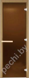 Дверь для бани стеклянная DoorWood матовая бронза 180*70