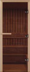 Дверь для бани стеклянная DoorWood прозрачная бронза 190*80