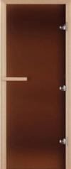 Дверь для бани стеклянная DoorWood матовая бронза 190*80
