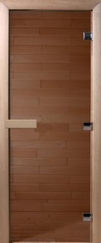 Дверь для бани стеклянная DoorWood прозрачная бронза 190*70