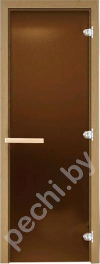 Дверь для бани стеклянная DoorWood матовая бронза 190*70