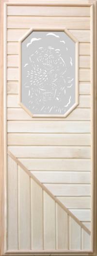 Дверь деревянная DoorWood с восьмиугольным стеклом