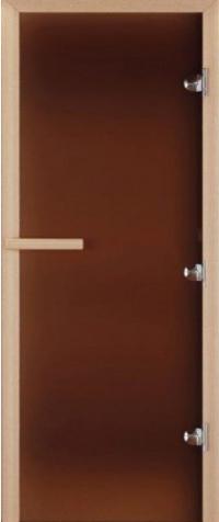 Дверь для бани стеклянная DoorWood матовая бронза 200*80