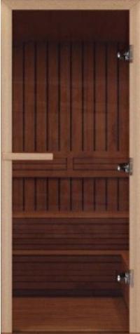 Дверь для бани стеклянная DoorWood прозрачная бронза 200*80