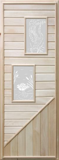 деревянная с двумя прямоугольными стеклами