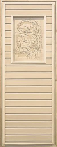 Дверь деревянная с рисунком
